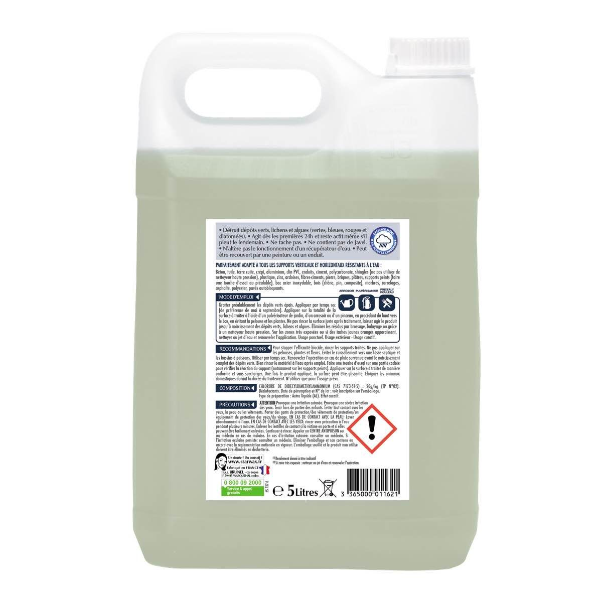 destructeur de dépôts verts   starwax, produits d'entretien maison - Produit Pour Nettoyer Les Murs Exterieurs