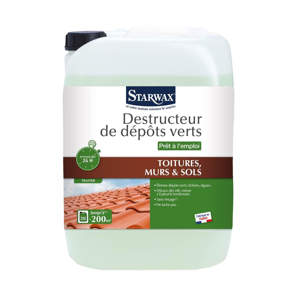 Starwax anti mousse toiture - Produit anti mousse terrasse ...