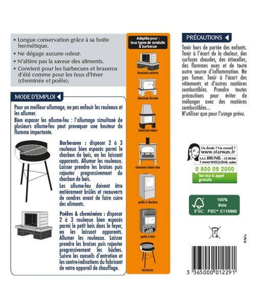 rouleaux allume feu pour po le chemin e et barbecue starwax produits d entretien maison. Black Bedroom Furniture Sets. Home Design Ideas