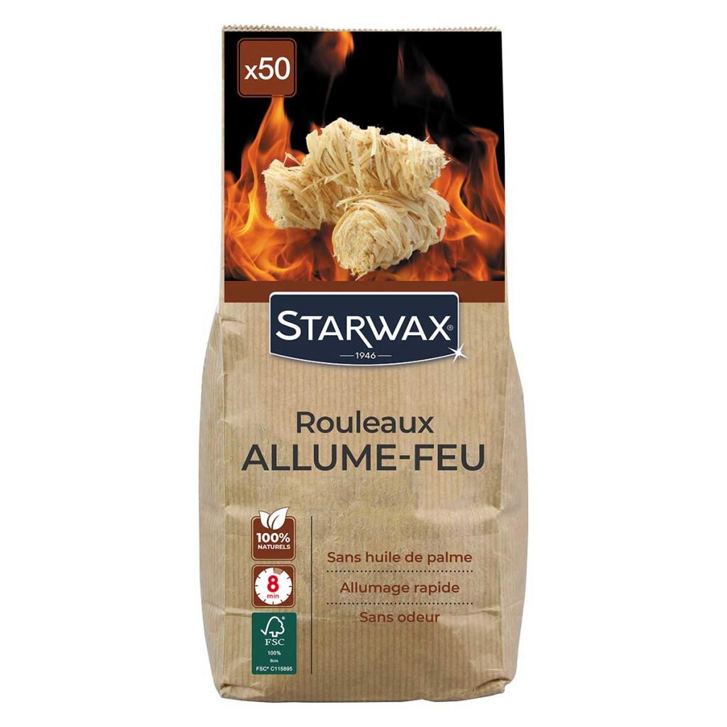 Rouleaux allume-feu pour barbecue, poêle et cheminée starwax