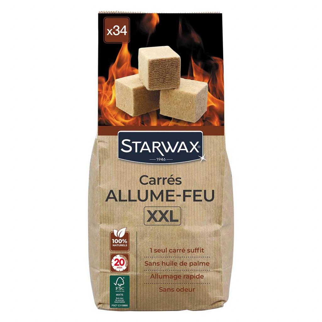 carrés allume-feu pour barbecue, poêle et cheminée starwax