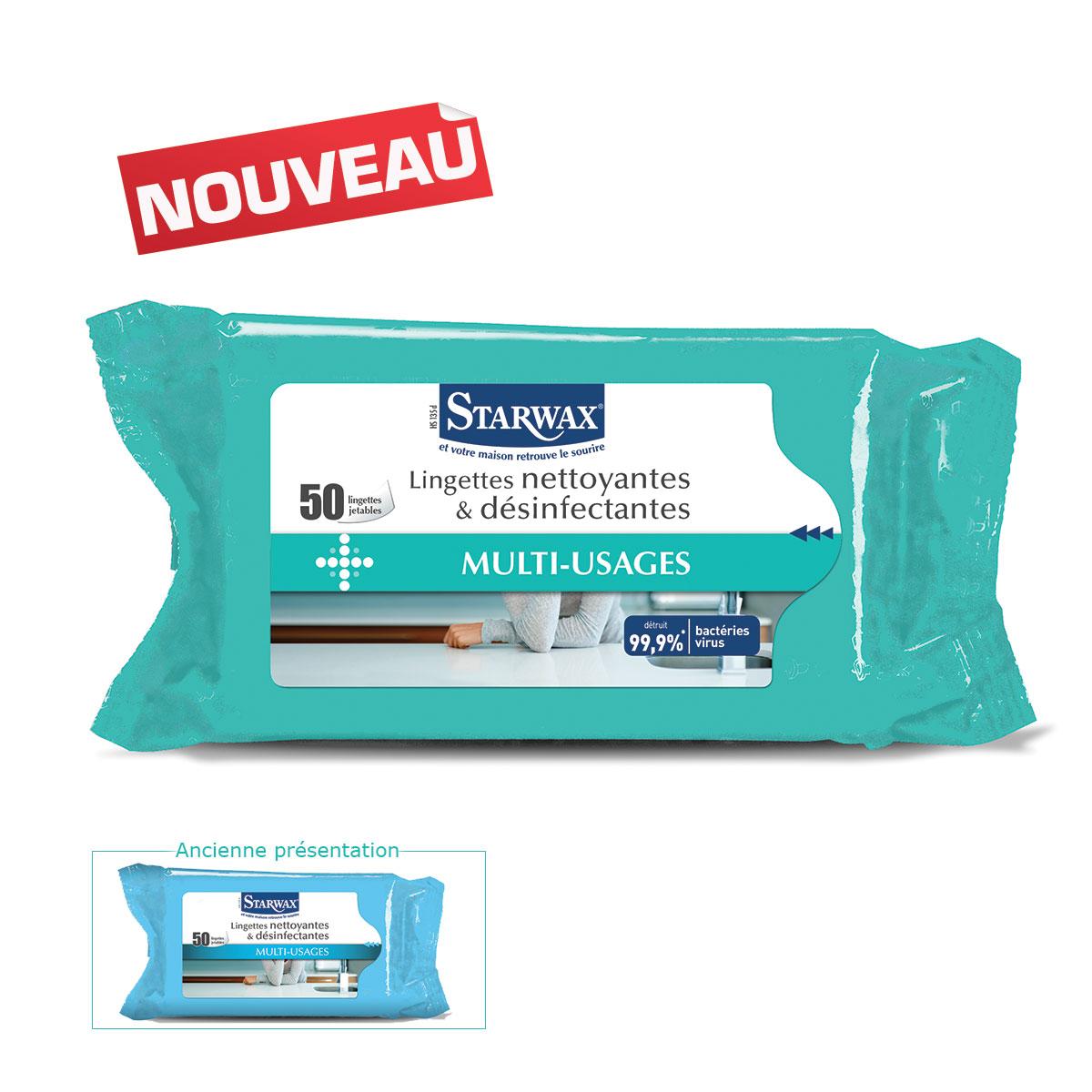 Lingettes nettoyantes désinfectantes - Starwax