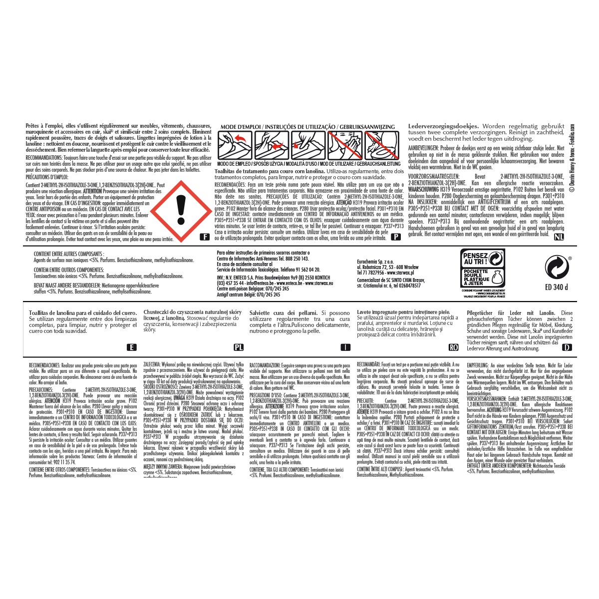 Lingettes de soin pour cuir   Starwax, produits d entretien maison 34921642027