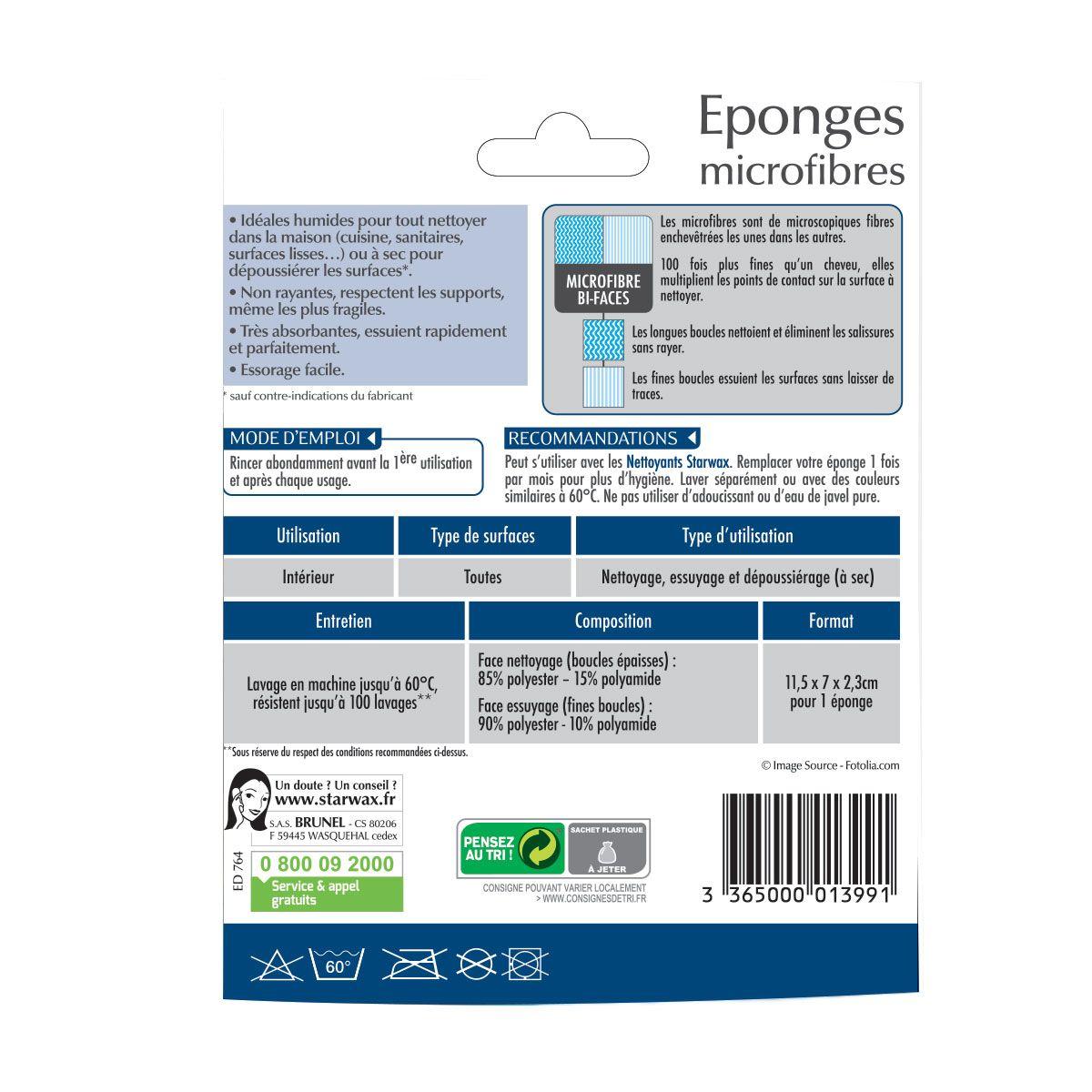 Eponges microfibres - Starwax