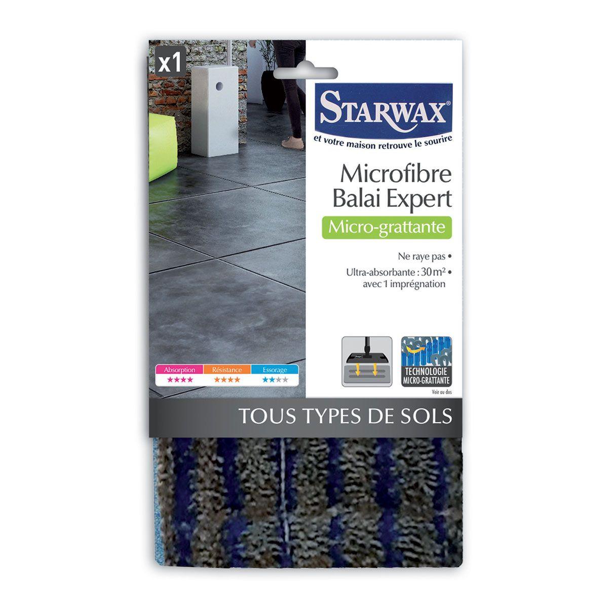 Microfibre micro-grattante pour tous types de sols - Starwax
