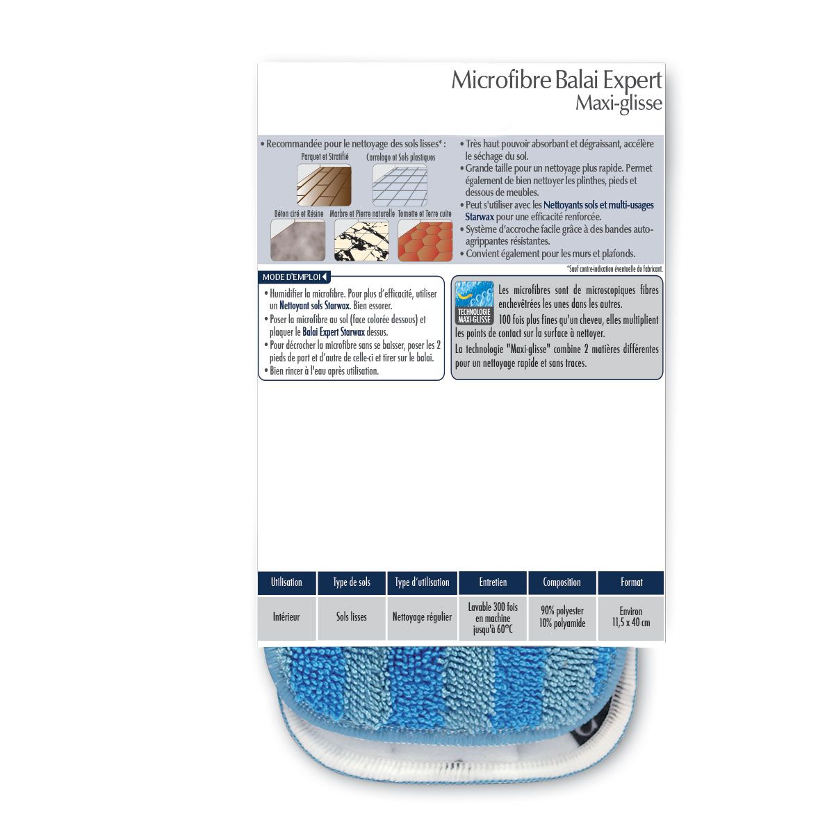 Microfibre maxi-glisse balai expert