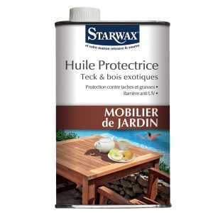 Huile protectrice mobilier-jardin teck bois exotique starwax