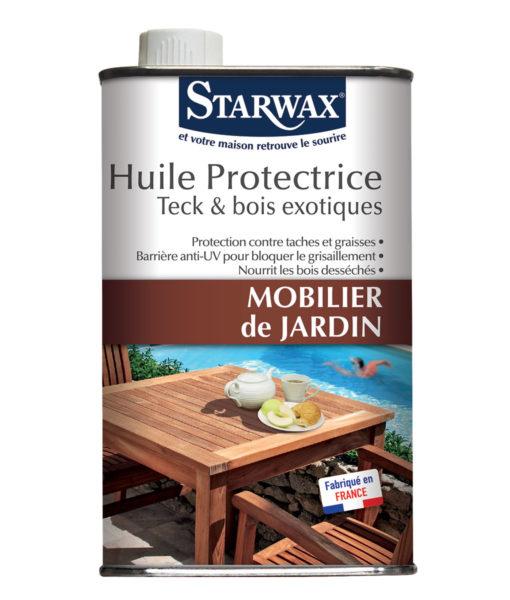 Huile protectrice pour mobilier de jardin en teck et bois exotiques ...