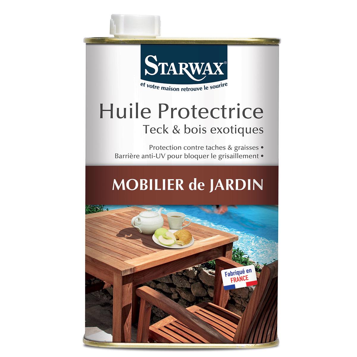 Huile protectrice pour mobilier de jardin en teck et bois exotique - Starwax