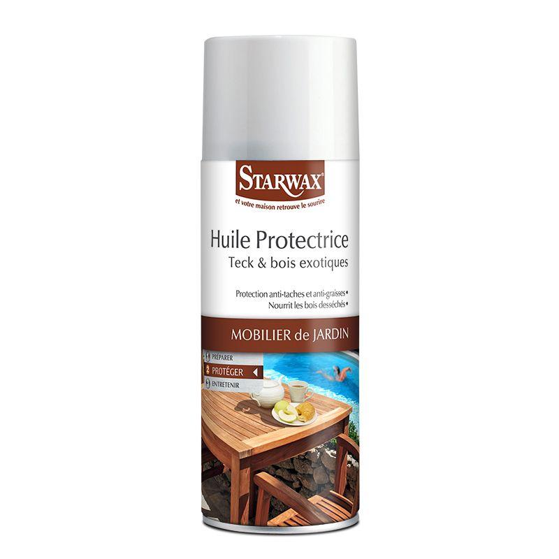 Huile protectrice pour teck et bois exotique en aérosol - Starwax