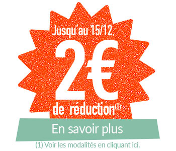 2 euros de réduction