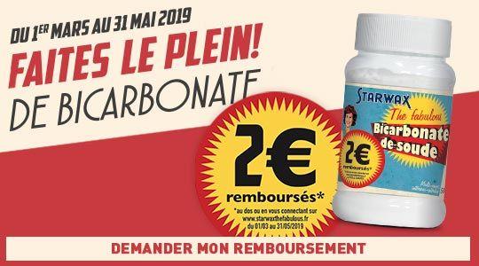 Faites le plein de Bicarbonate avec 2€ remboursés