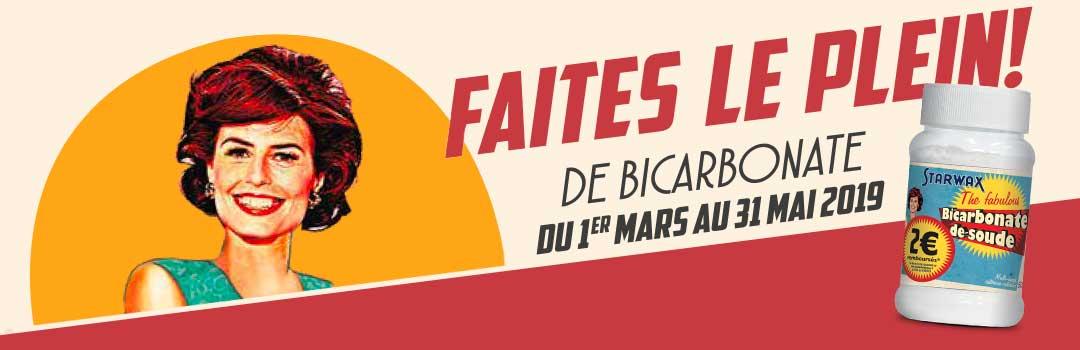 Faites le plein de Bicarbonate du 1er mars au 31 mai 2019