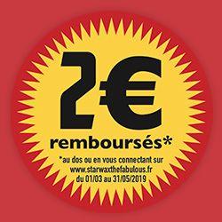2€ remboursés du 1er mars au 31 mai 2019