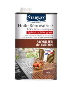 Huile renovatrice pour mobilier de jardin