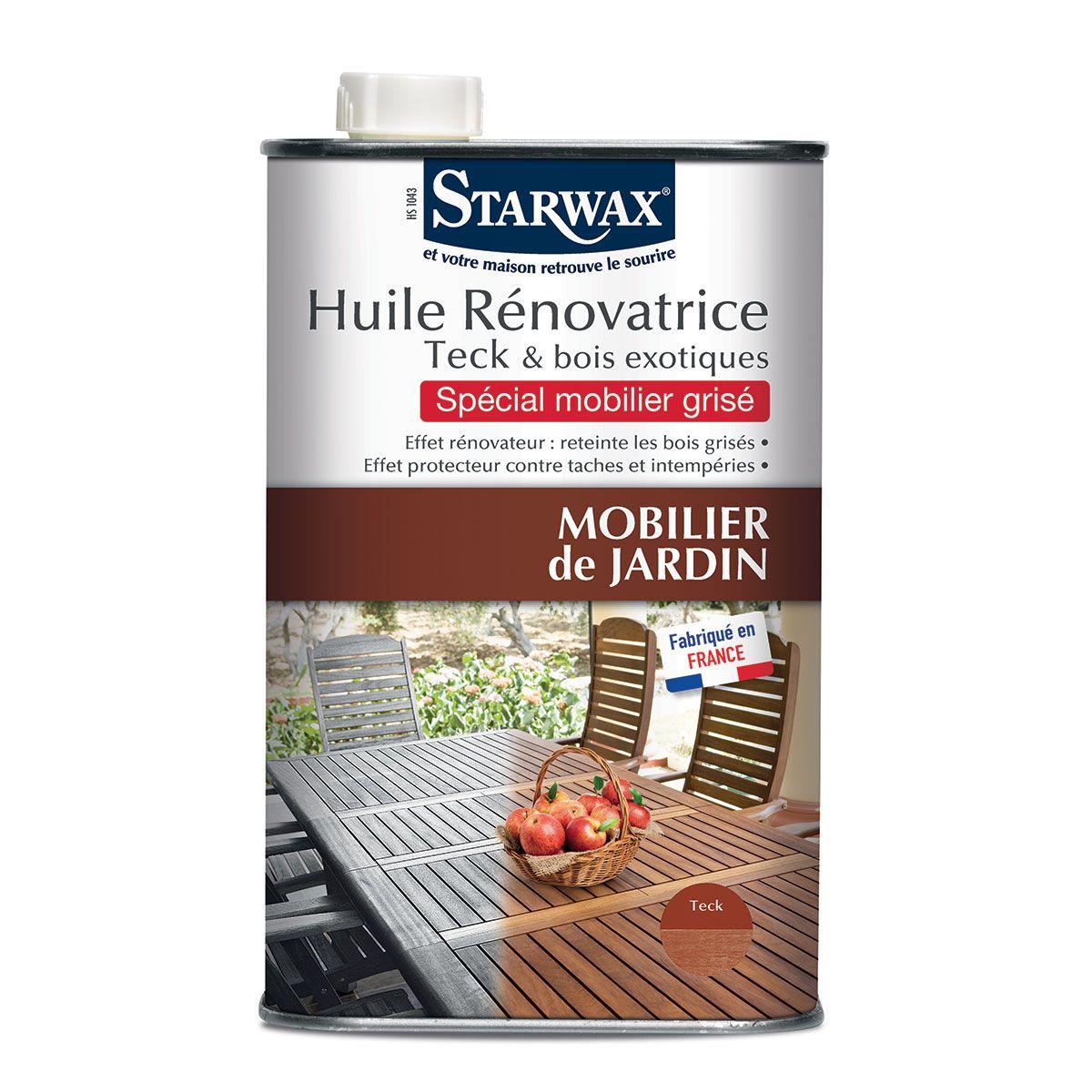Huile rénovatrice pour teck et bois exotiques - Starwax