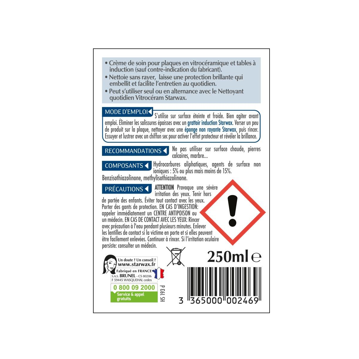 Produit Pour Nettoyer Vitroceramique crème de soin spéciale vitroceram | starwax, produits d