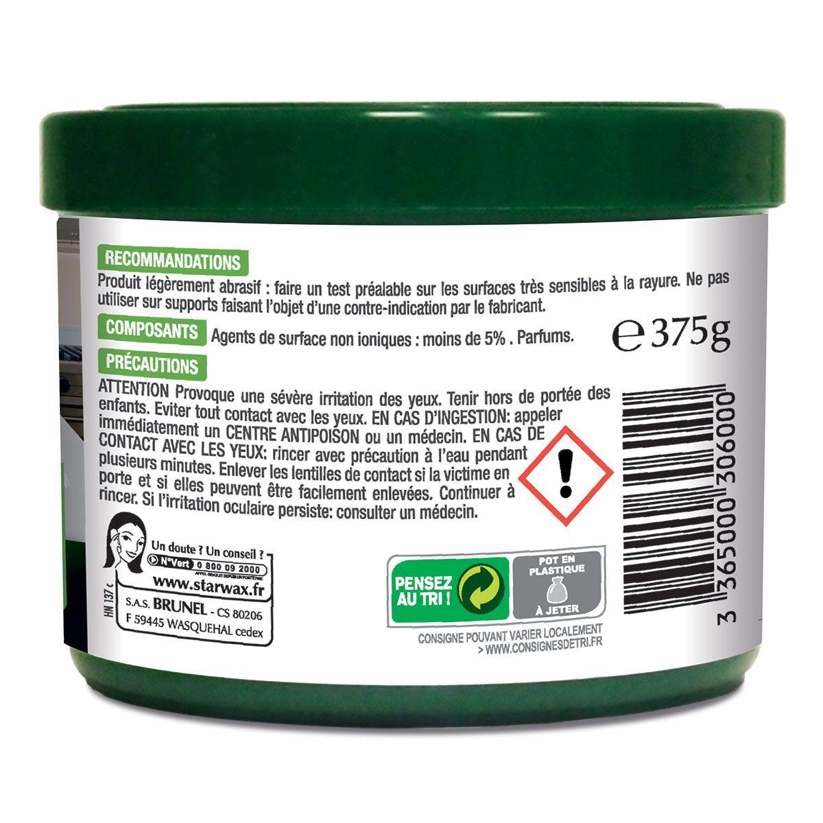Pierre de nettoyage blanche avec matières actives 100% d'origine naturelle - Starwax