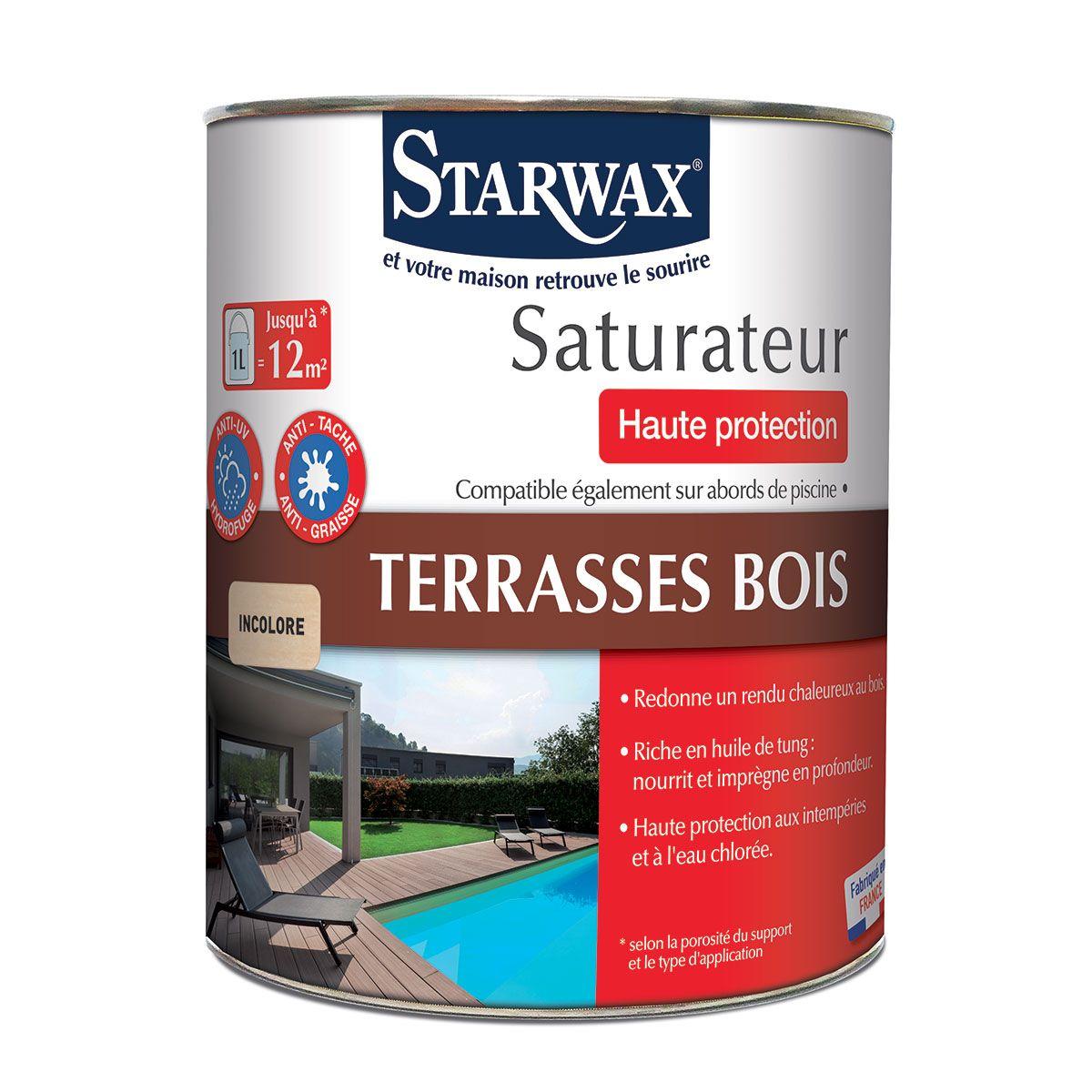 Saturateur haute protection pour terrasses en bois | Starwax ...