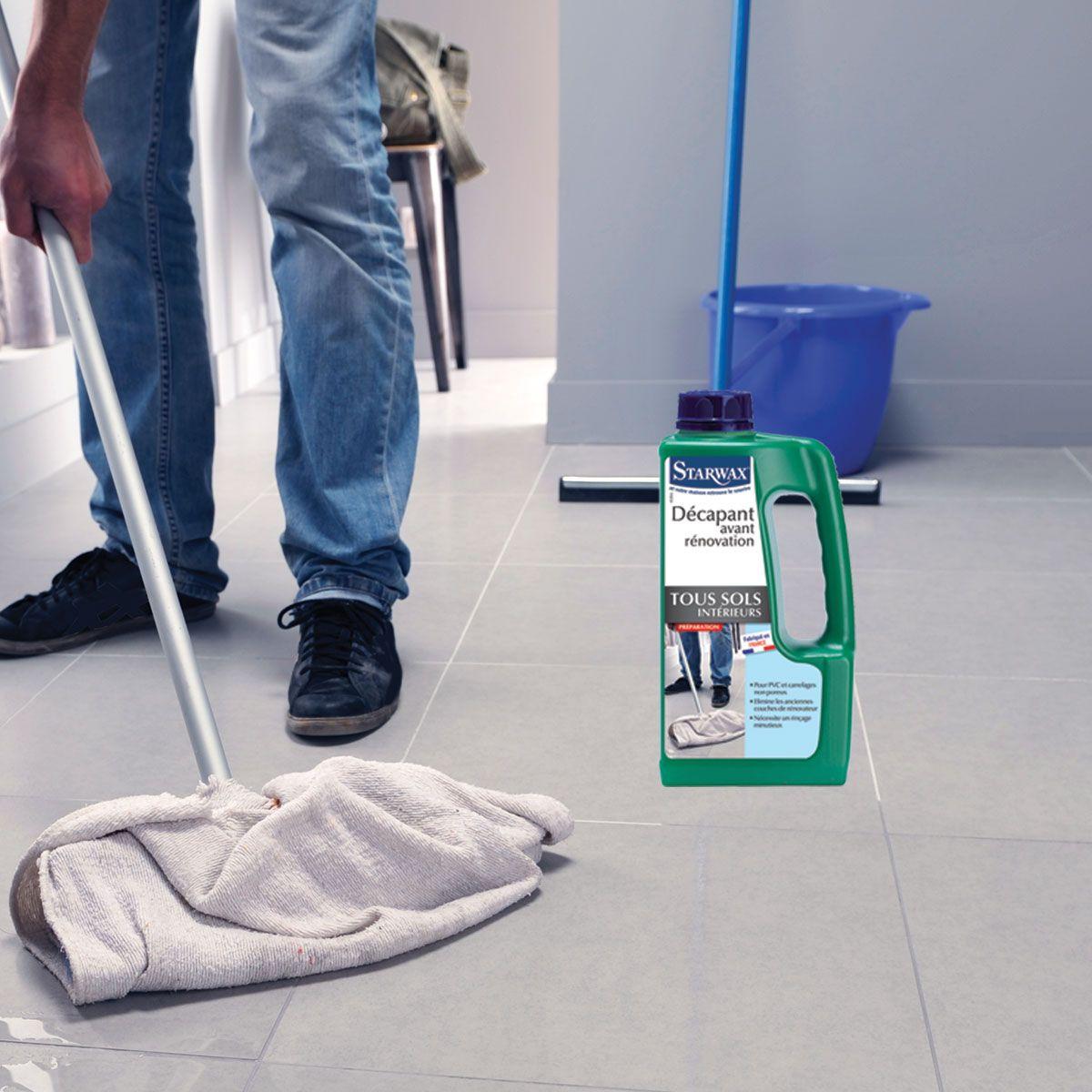 Faire Briller Un Carrelage Poreux décapant avant rénovation pour sols intérieurs | starwax