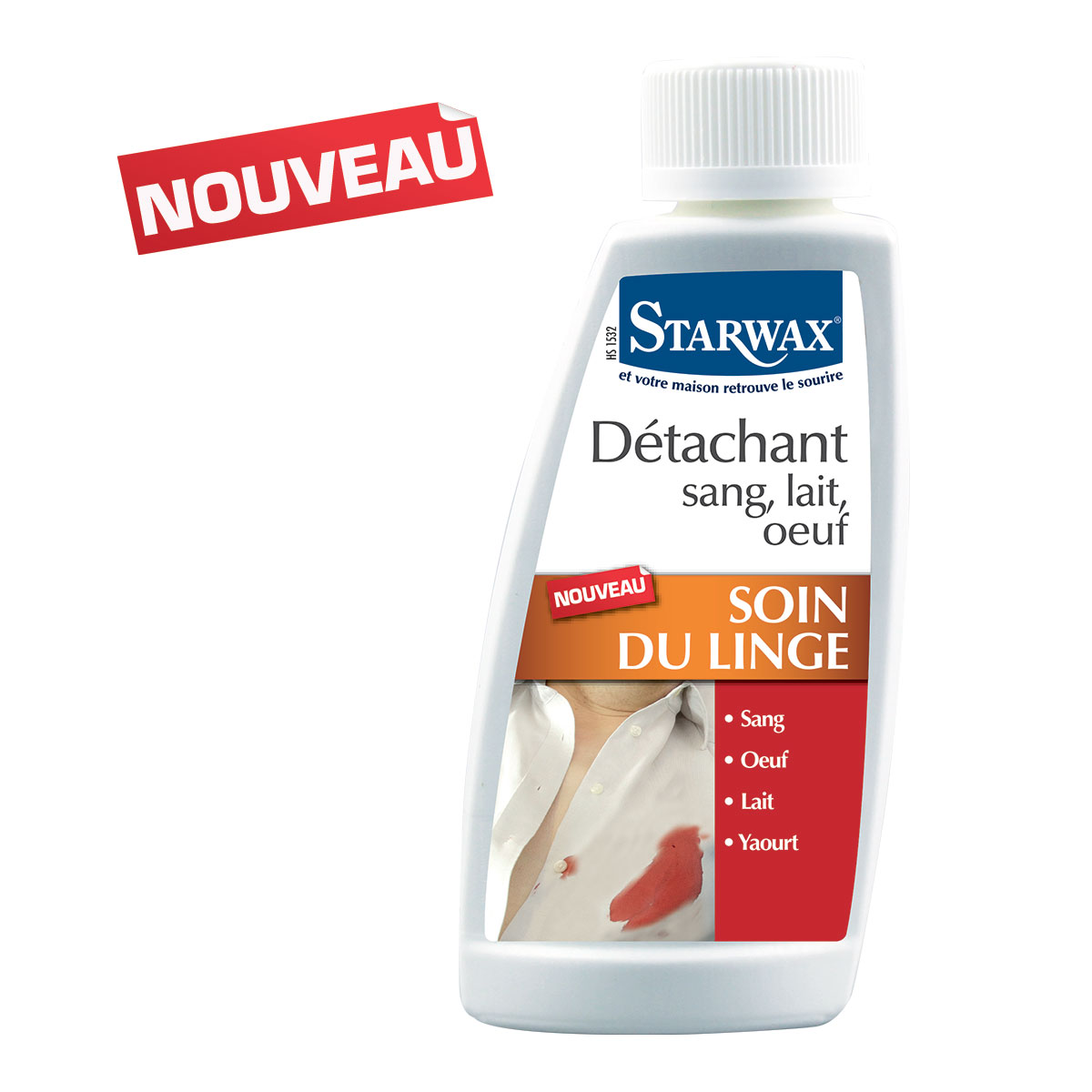 Detachant sang lait oeuf