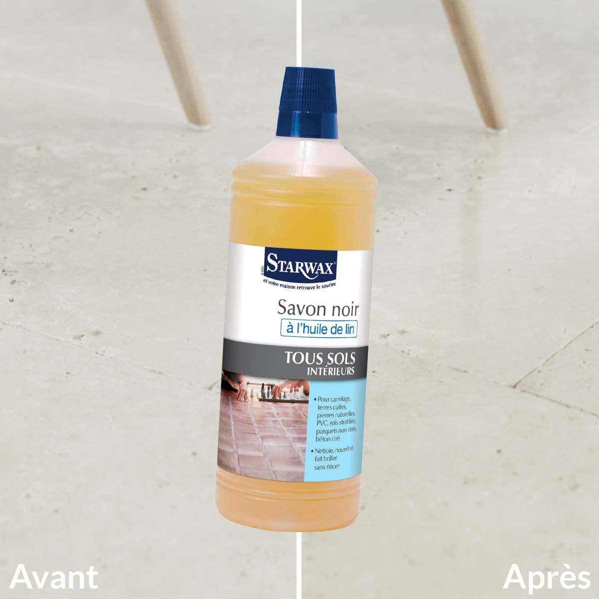 Comment Nettoyer Le Beton Ciré savon noir à l'huile de lin pour sols intérieurs | starwax