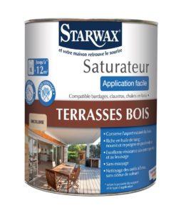 saturateur pour terrasses en bois incolore