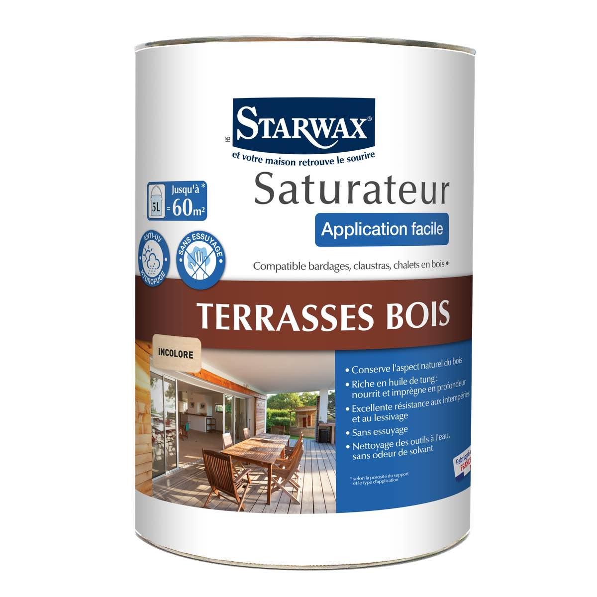 Produit Nettoyage Bardage Pvc saturateur application facile pour terrasses en bois