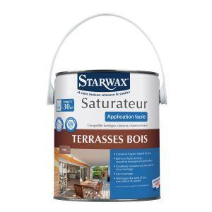 Saturateur haute protection terrasses bois starwax