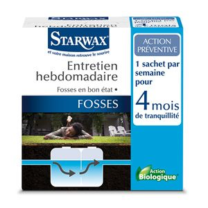 Entretien hebdomadaire pour fosses septiques - Starwax