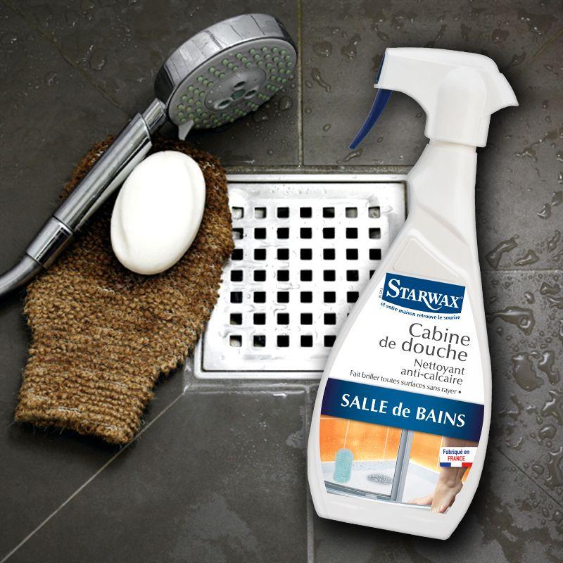 nettoyant anti-calcaire pour cabine de douche | starwax, produits ... - Calcaire Carrelage Salle De Bain
