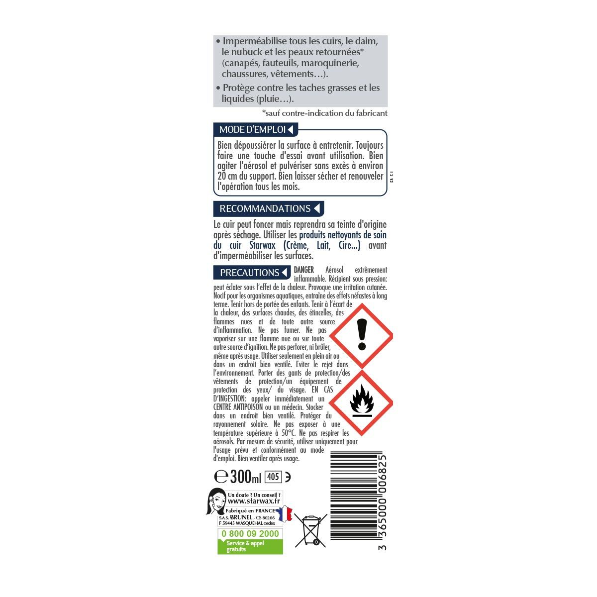 Imperméabilisant anti-tache pour cuirs, daims et nubuch   Starwax ... fc987912a3fc