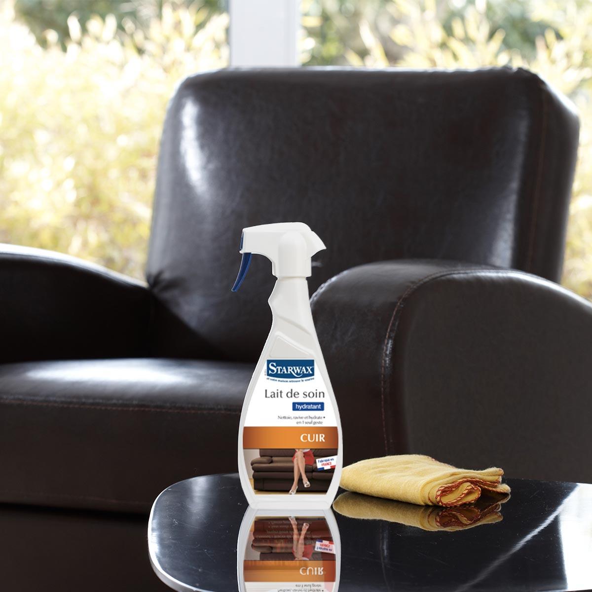 Entretien Canapé Cuir Naturel lait de soin hydratant pour cuir | starwax, produits d