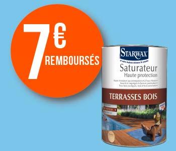 7 euros remboursés sur le saturateur Starwax