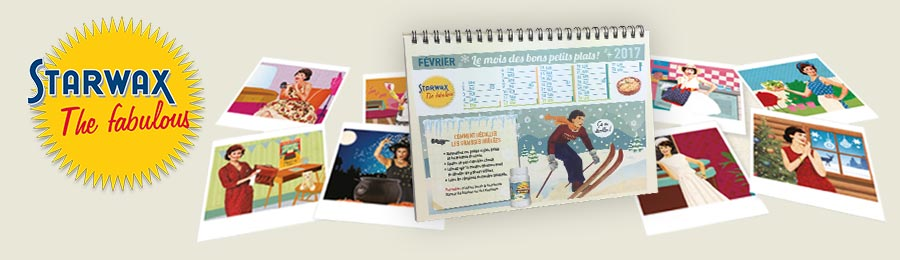 Calendrier Starwax The fabulous