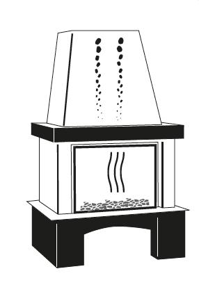 brique de ramonage dans cheminée