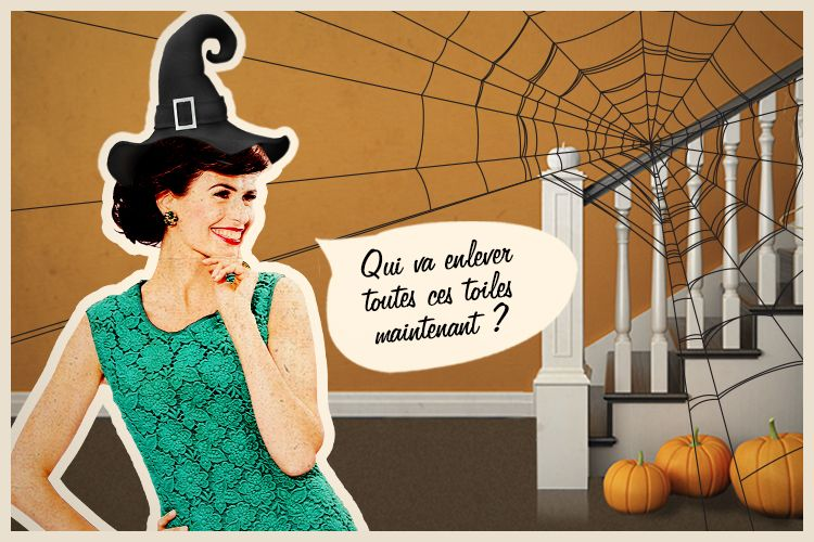 Halloween et toiles d'araignées