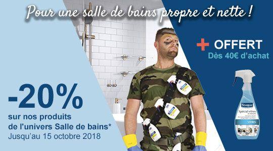 Promotion : ARMEZ-VOUS POUR UNE SALLE DE BAINS PROPRE ET NETTE !