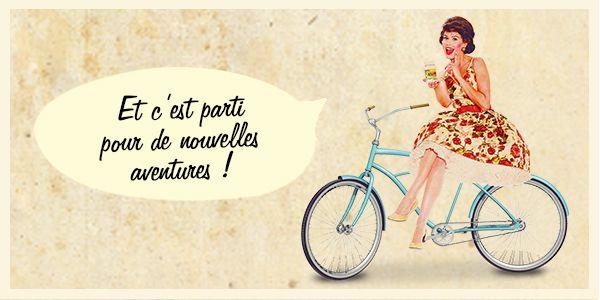 Candide sur un vélo pour Starwax The Fabulous