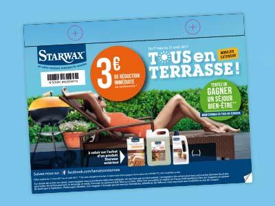 Coupon de réduction de 3€ sur les produits Starwax extérieur