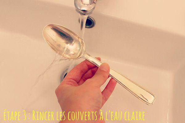 Etape 3 : Rincer les couverts