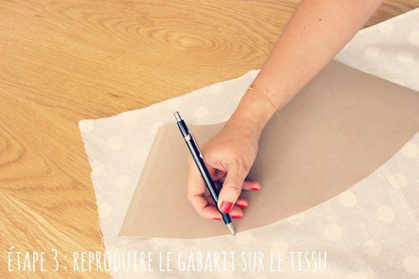 Etape 3 : reproduire le gabarit sur le tissu