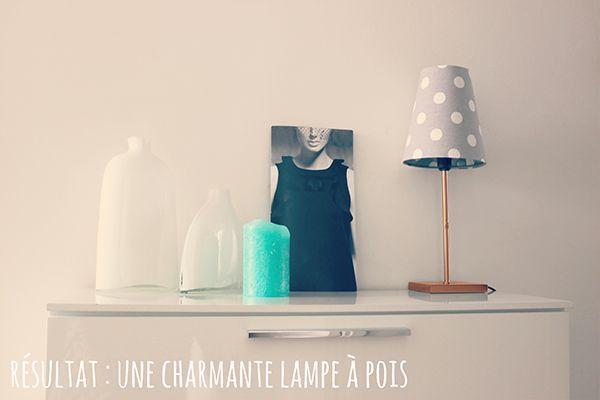 DIY Une charmante lampe à pois