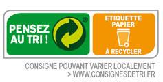 Etiquette papier à recycler