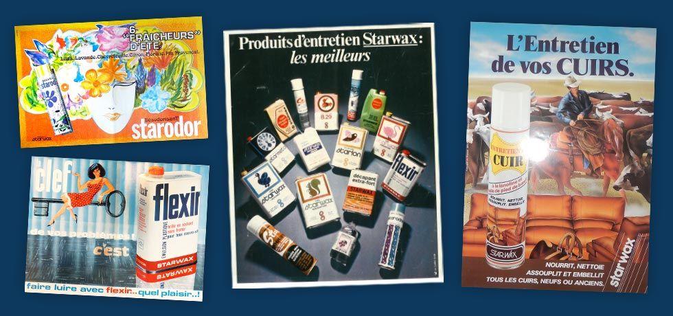 Historique : affiches publicitaires Starwax