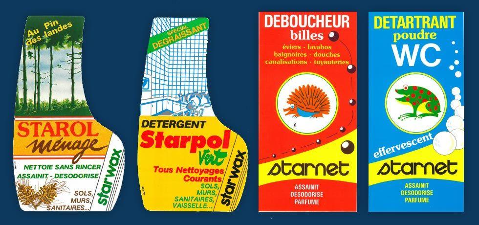 Historique : etiquettes anciennes Starwax