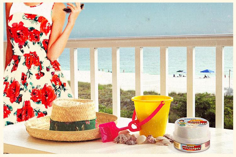 Jouets de plage en plastique pierre blanche de nettoyage fabulous