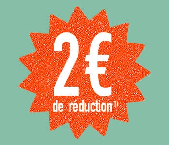 2€ de réduction