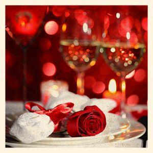 Table décorée pour la St Valentin