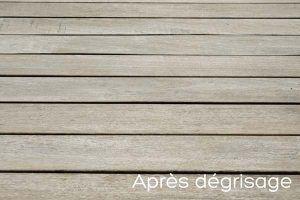 Terrasse en bois après dégrisage